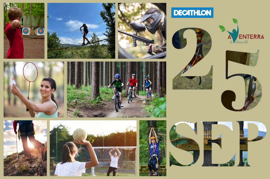 Competiție de badminton, basketball, handbal, fotbal, darts, cu premii, organizată alături de Decathlon. Activități de tir cu arcul, aventură, paintball, airsoft, biciclete și tiroliană organizate de Aventerra.